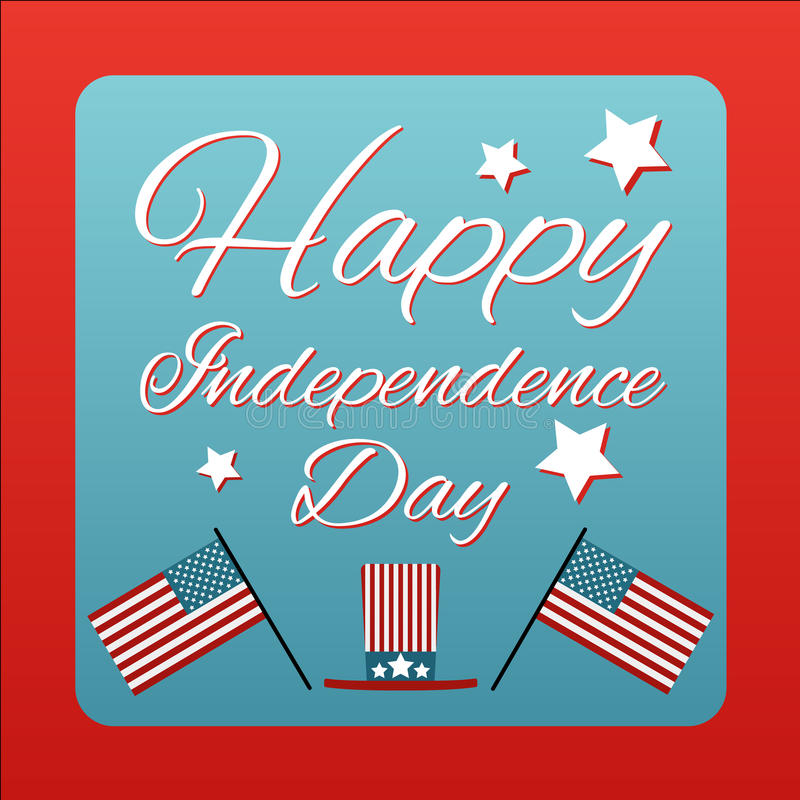 Happy 4 th of July card United States of America. Happy independence day USA poster. Vector illustration. royalty free illustration