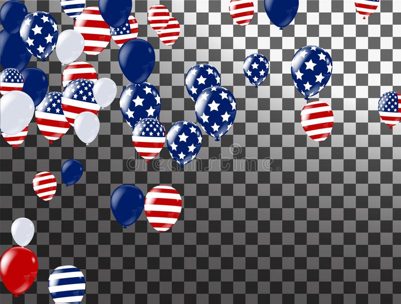 Happy 4th of July holiday banner. USA Independence Day Celebration Banner. National American Greeting. Vector stock illustration