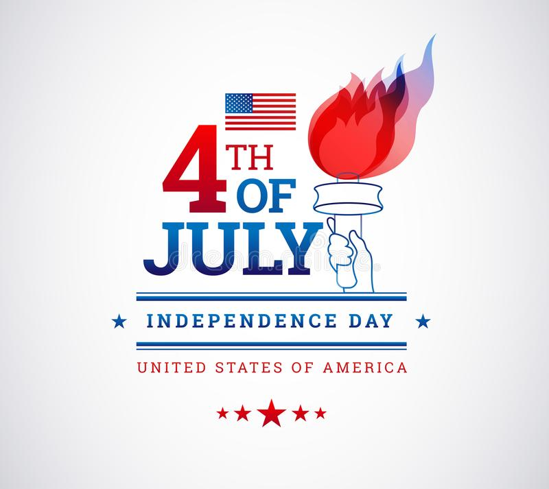 Happy 4th of July, Independence Day USA background with the USA stock illustration