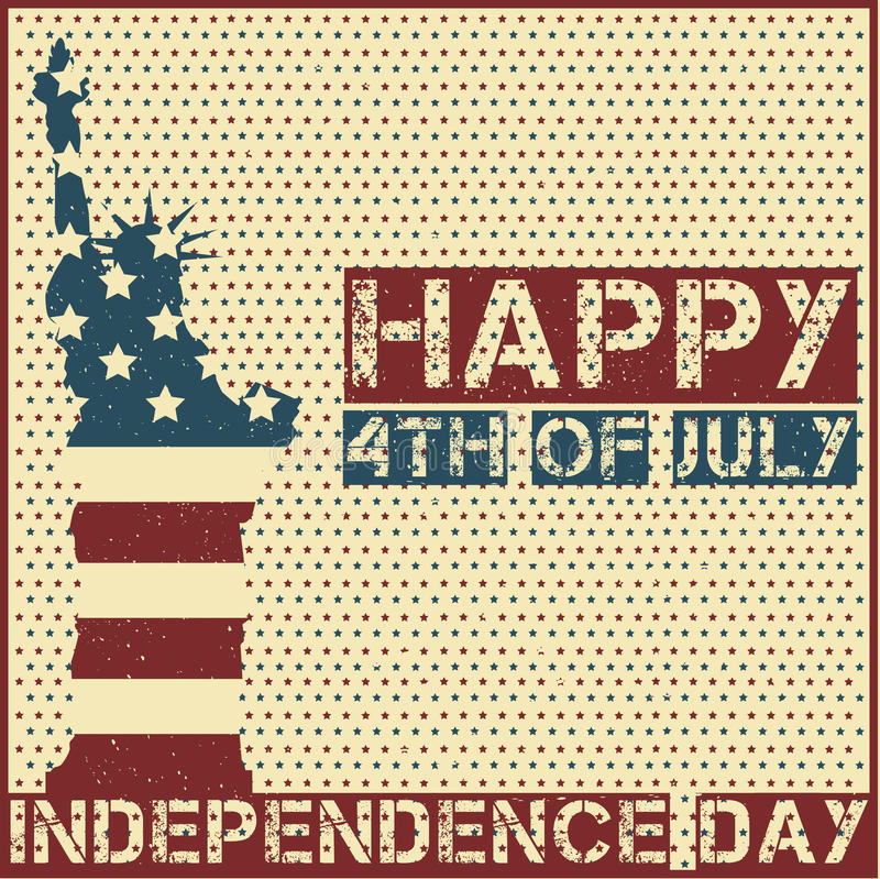 Happy 4th of July stock illustration