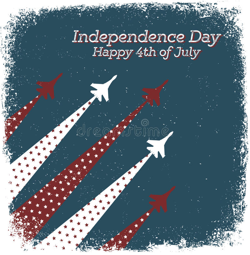 Happy 4th of July royalty free illustration