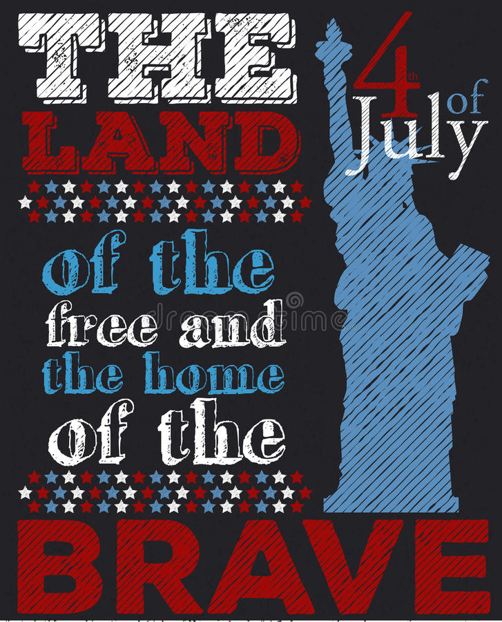 Happy 4th of July. Independence Day. Vector illustration royalty free illustration
