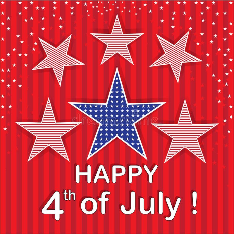 Download Happy 4th Of  July Red Stars Background Stock Illustration - Illustration of family, symbol: 38896055