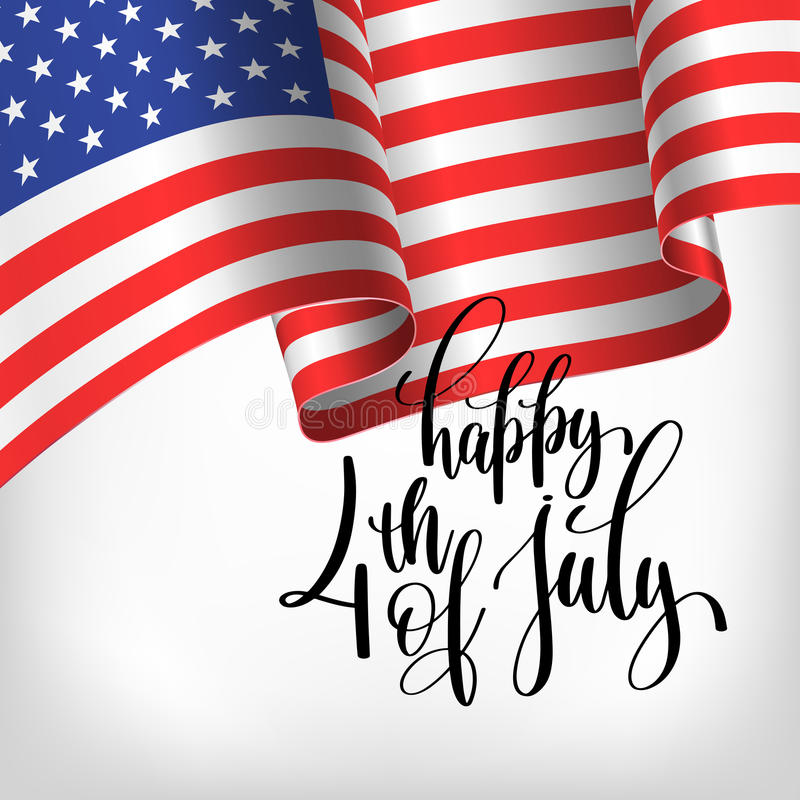 Happy 4th of july USA independence day banner with american flag vector illustration