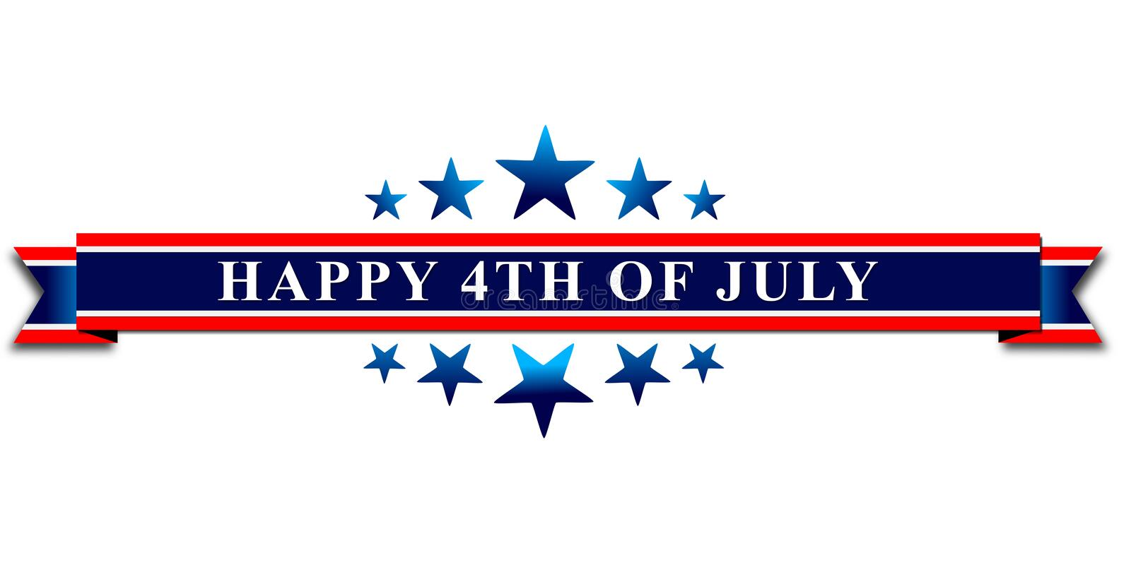 Happy 4th Of July USA Independence Day royalty free illustration