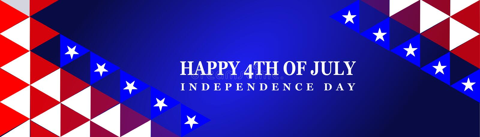 Happy 4th Of July USA Independence Day. Header Or Banner Background vector illustration