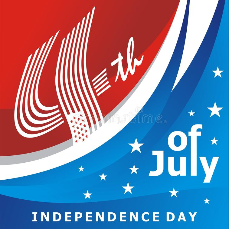 Happy 4th of July, USA Independence Day Vector Design royalty free illustration