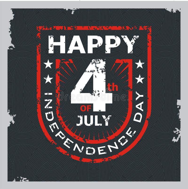 Happy 4th of July, USA Independence Day Vector Design vector illustration