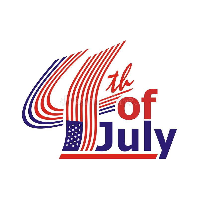 Happy 4th of July, USA Independence Day Vector Design stock illustration