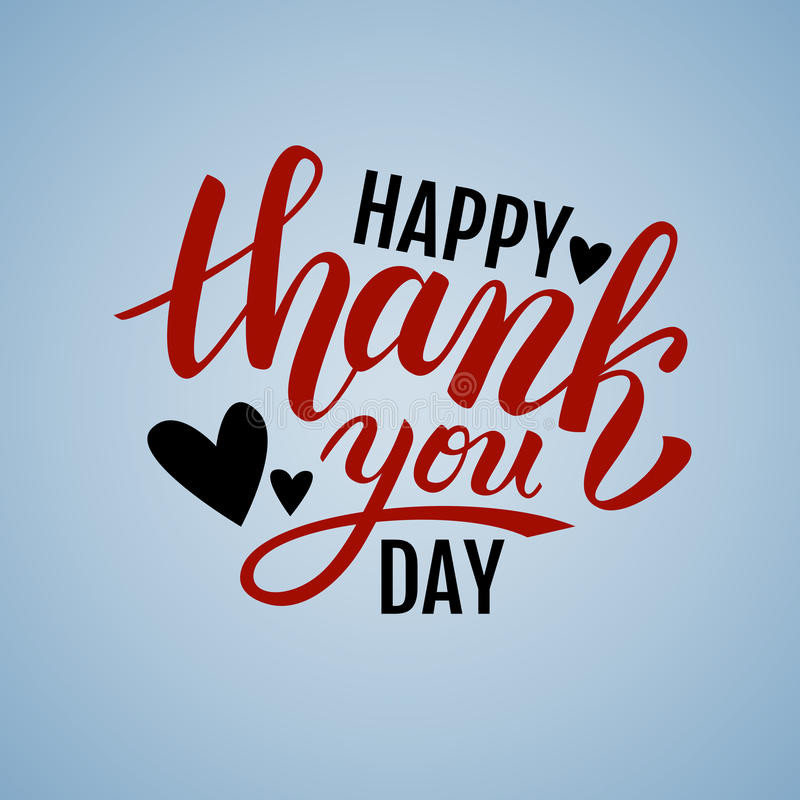 Happy Thank you Day handwritten illustration vector illustration