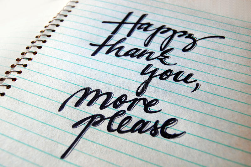 Download Happy Thank You More Please Calligraphic Background Stock Photo - Image: 83712687