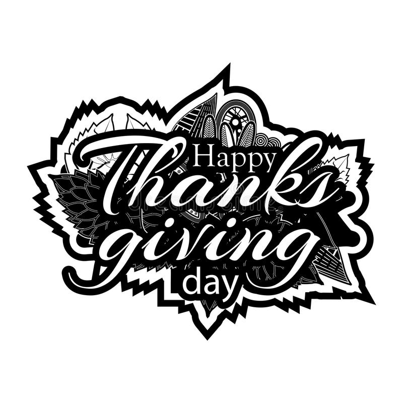 Happy thanks giving day symbol for flyer, poster, banner, web header. Abstract background stock illustration