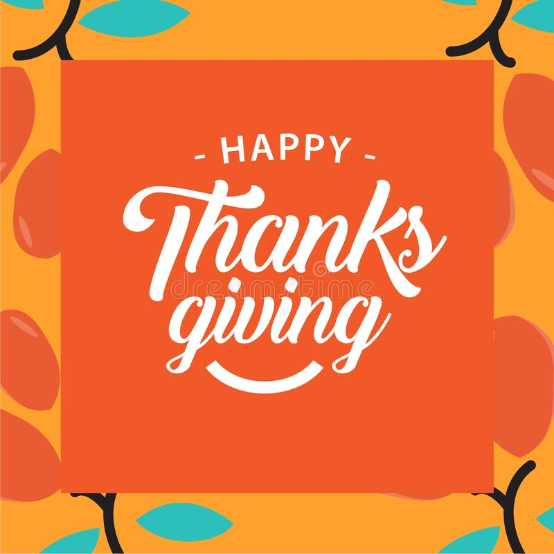 Happy Thanks Giving Vector Template Design Illustration stock illustration