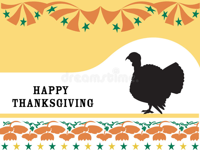 Happy Thanksgiving. Happy Thanksgiving with turkey and floral decoration