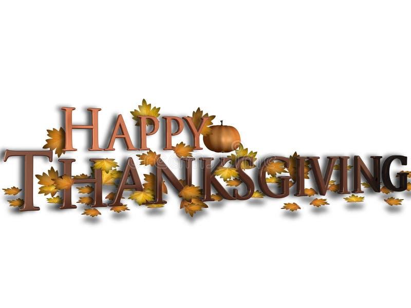 Happy Thanksgiving royalty free illustration