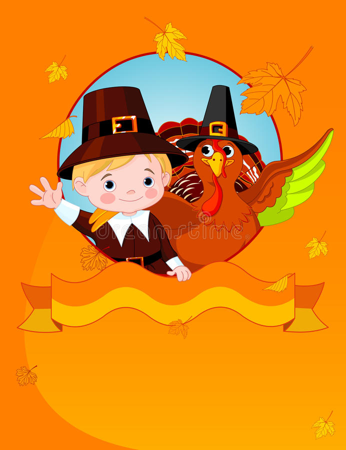 Download Happy Thanksgiving stock vector. Image of invitation - 21966050