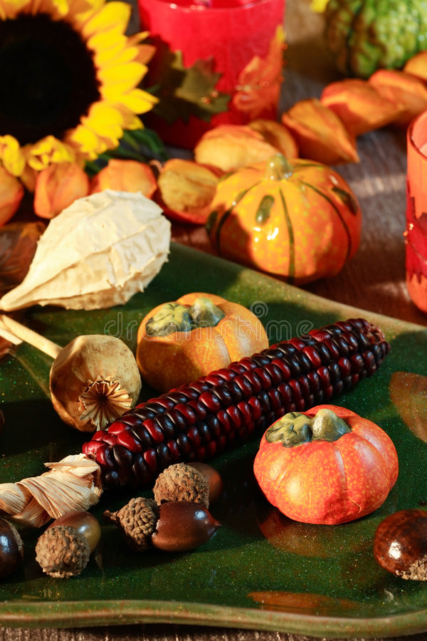 Happy Thanksgiving. Still life for autumn and Thanksgiving stock photography