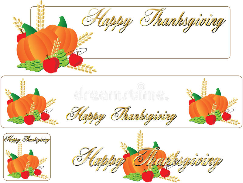 Happy thanksgiving banner stock vector. Image of autumn ...