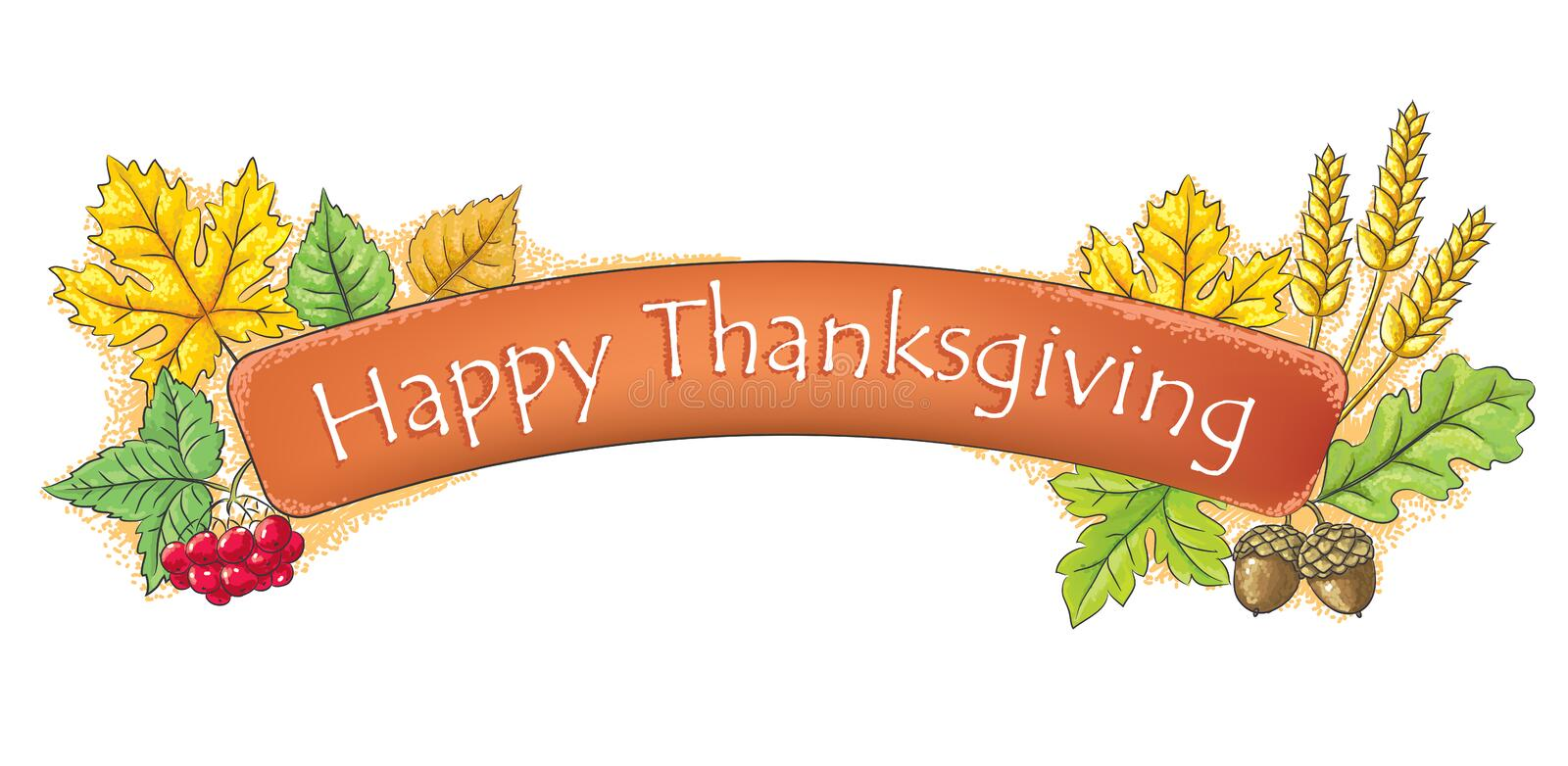 Happy Thanksgiving banner stock image. Image of healthy ...