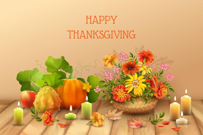Happy Thanksgiving Card stock illustration