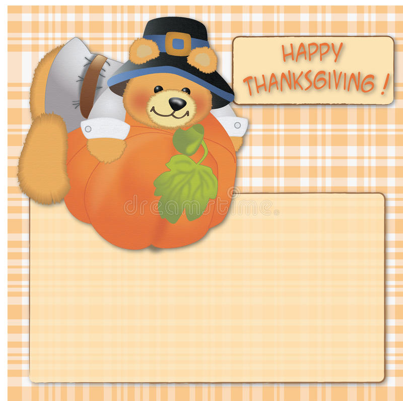 Happy thanksgiving card background stock illustration