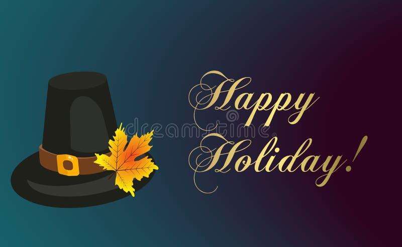 Happy thanksgiving card celebration banner design cartoon autumn greeting harvest season holiday brochure vector royalty free illustration