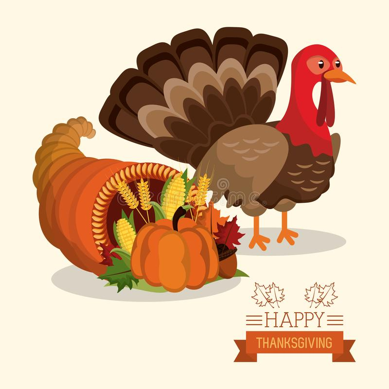 Happy thanksgiving card royalty free illustration