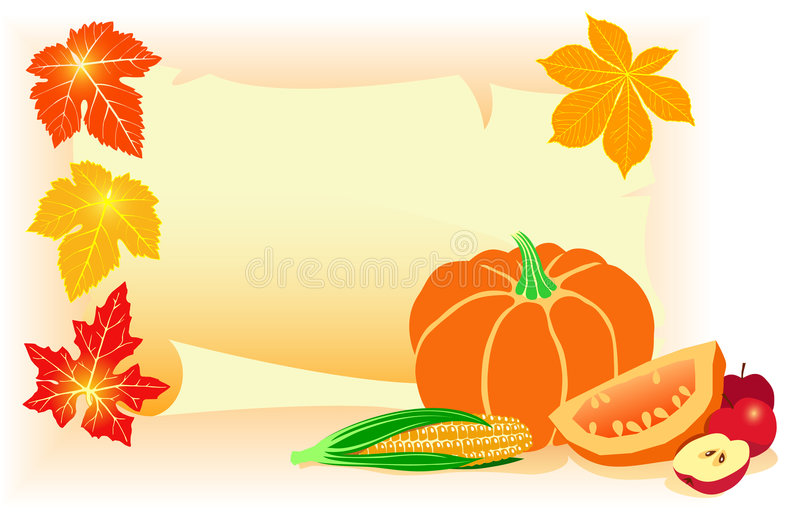 Download Happy Thanksgiving Day! stock illustration. Image of corn - 6930850