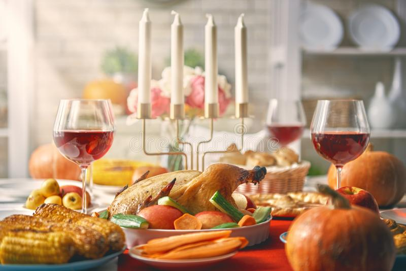Happy Thanksgiving Day stock photo