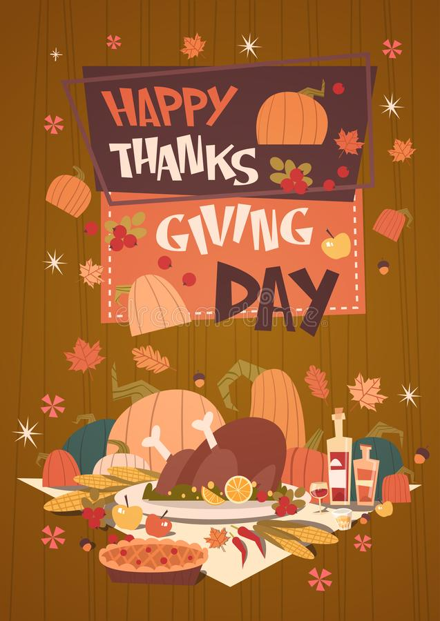 Happy thanksgiving day autumn traditional harvest holiday greeting download happy thanksgiving day autumn traditional harvest holiday greeting card stock vector illustration of harvest m4hsunfo