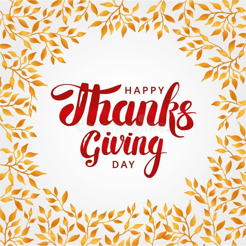 Happy thanksgiving day background royalty free illustration