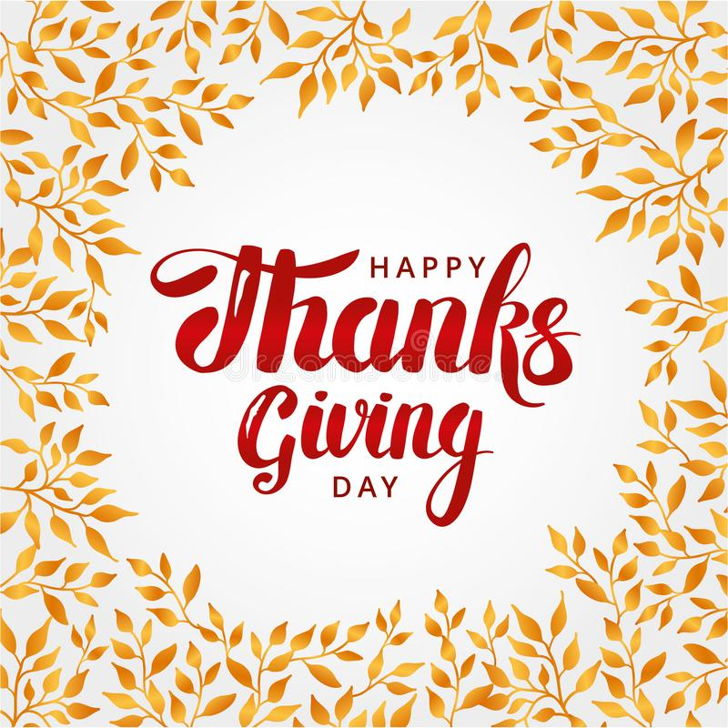 Happy thanksgiving day background stock illustration