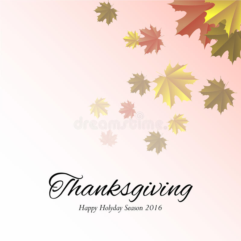 Happy Thanksgiving Day. Thanksgiving day banner with leaves, Vector illustration stock illustration