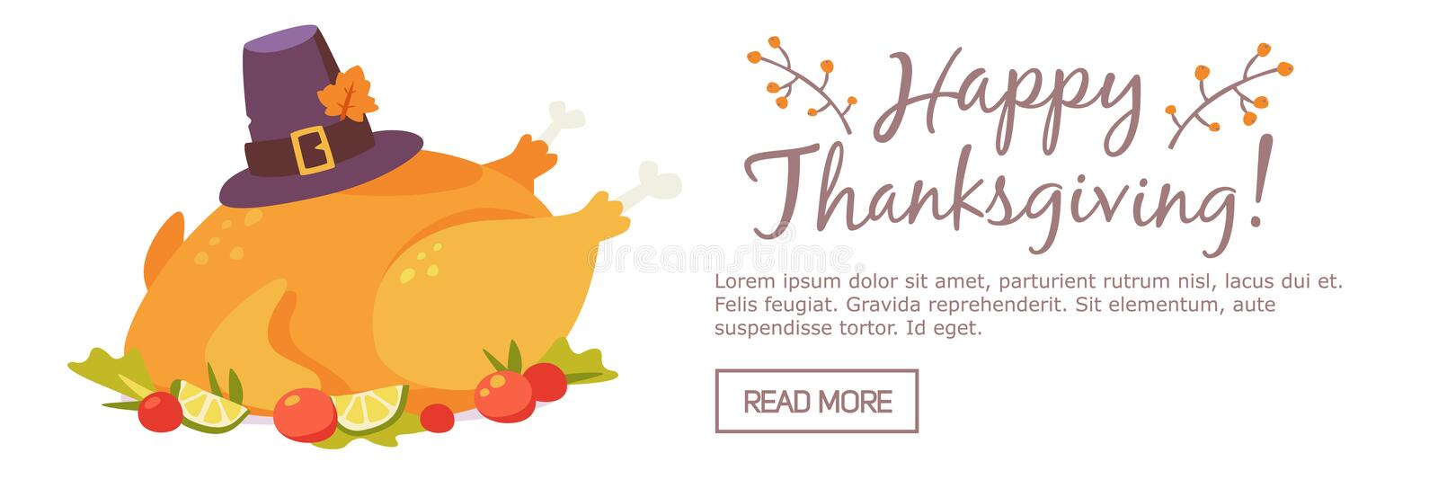 Happy thanksgiving day banner royalty free stock image