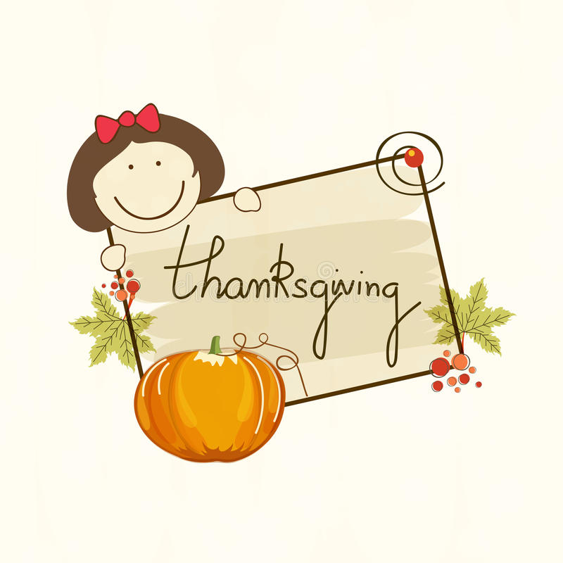 Happy Thanksgiving Day celebrations concept royalty free illustration