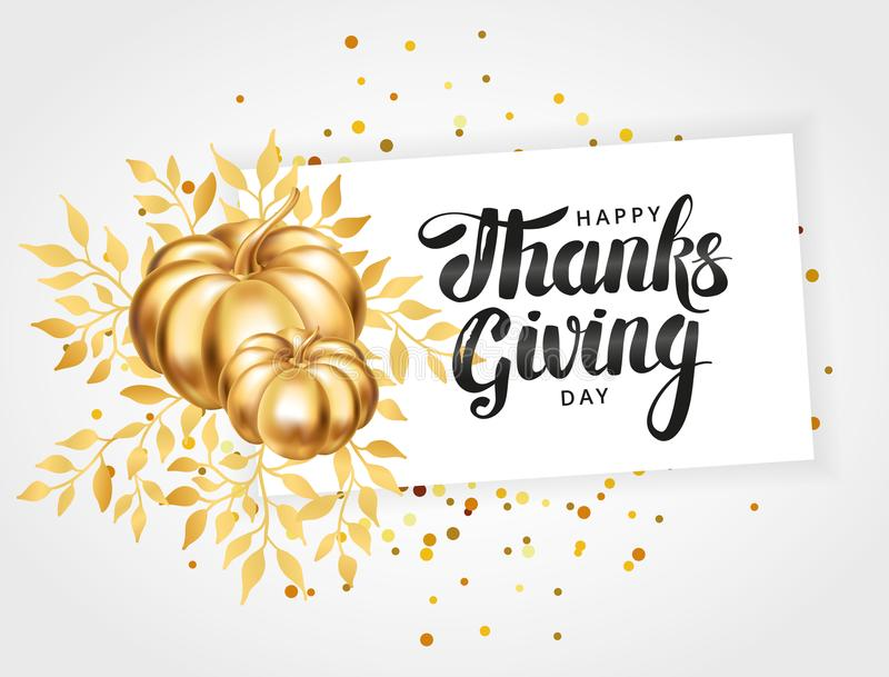 Happy thanksgiving day greeting card vector illustration