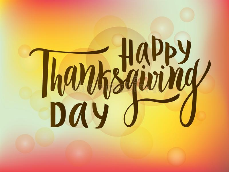 Download Happy Thanksgiving Day Greeting Lettering Phrase Modern Calligraphy Stock Vector
