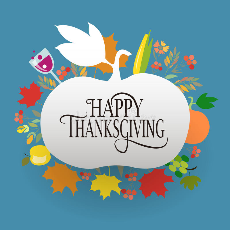 Happy Thanksgiving Day logotype, badge and icon stock photography