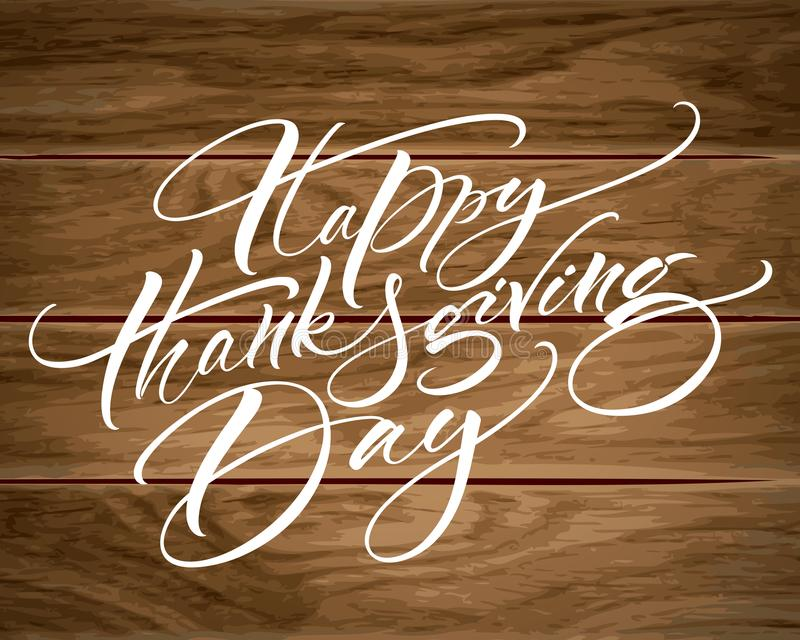 Download Happy Thanksgiving Day Modern Calligraphy Stock Vector