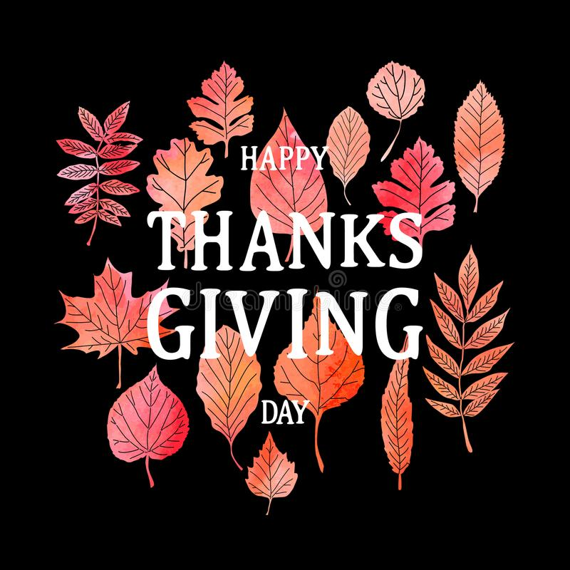 Happy Thanksgiving Day poster. royalty free illustration