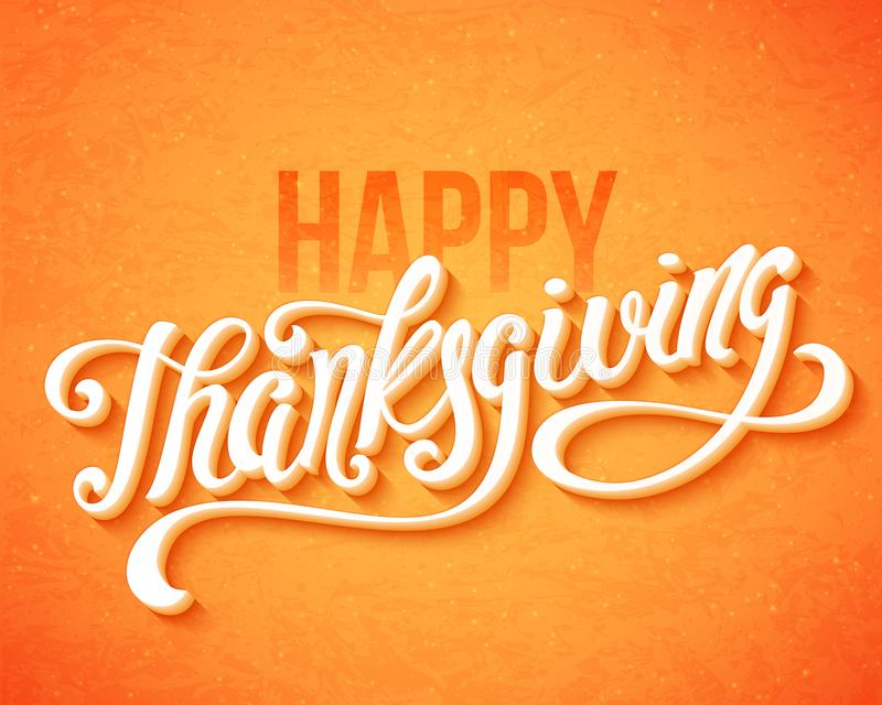 Happy Thanksgiving Day. royalty free illustration