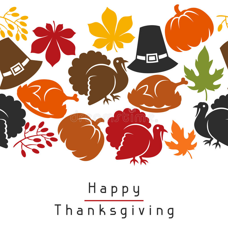 Download Happy Thanksgiving Day Seamless Pattern With Stock Vector - Illustration of harvest, decoration: 58111816