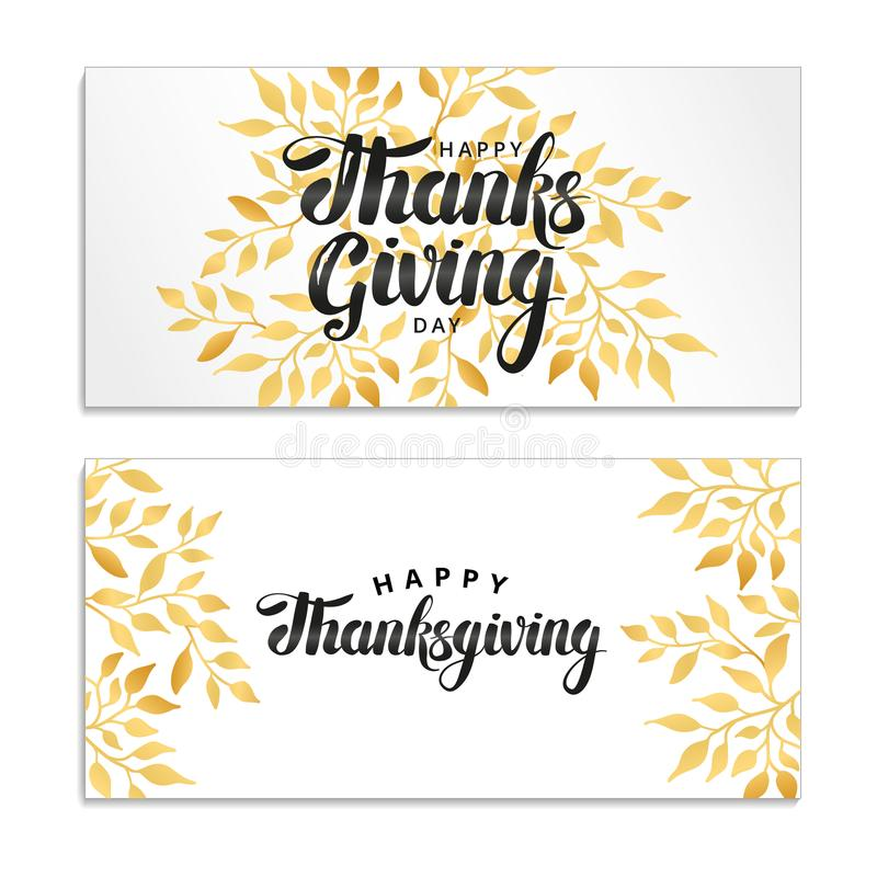 Happy thanksgiving day template royalty free illustration