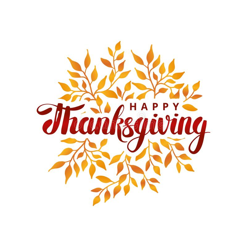 Happy thanksgiving day template vector illustration
