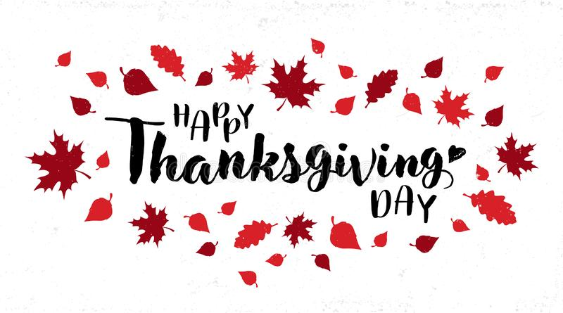 Happy Thanksgiving Day typography vector design royalty free illustration