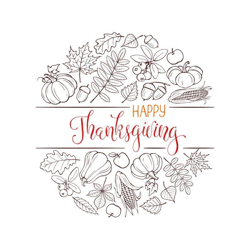 Happy thanksgiving poster vector illustration