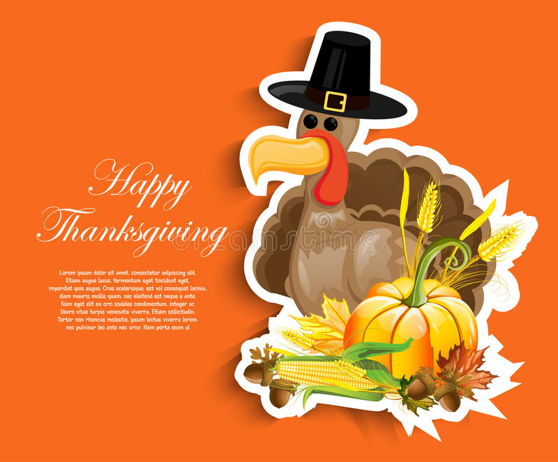 Happy Thanksgiving Day stock illustration