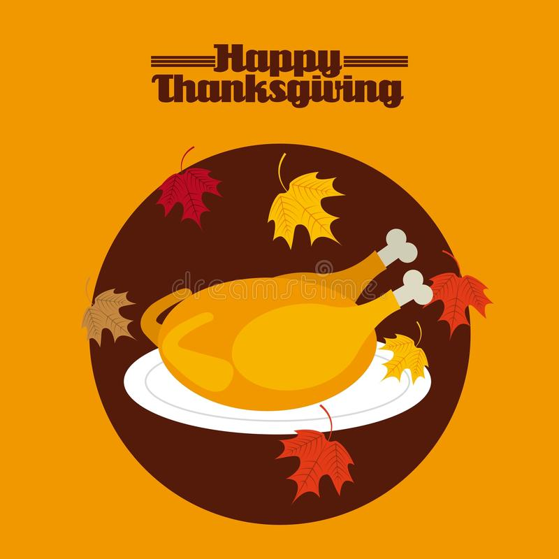 Happy thanksgiving vector illustration