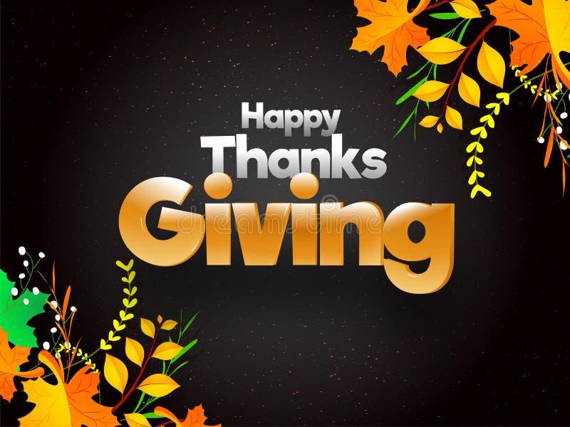 Happy Thanksgiving festival celebration concept based poster or royalty free illustration