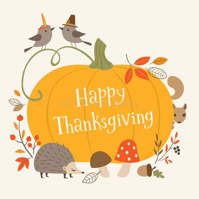 Happy Thanksgiving greeting card stock illustration